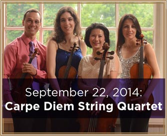 September 22, 2014: Carpe-Diem-String-Quartet